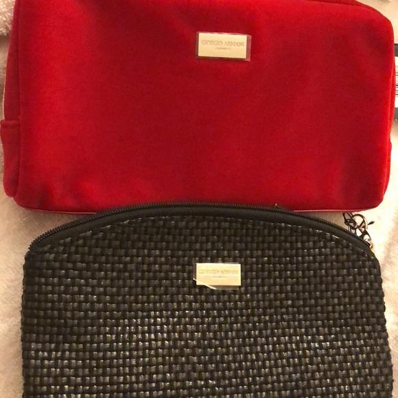 Giorgio Armani Bags   Cosmetics Bag One Red And One Black   Poshmark 45e4e59080